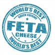 Feta cheese stamp - Stok Vektör