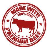 プレミアム牛肉スタンプで作られました。 — ストックベクタ