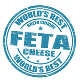 Feta cheese stamp — Stock Vector