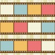 Retro background with film strips - Stock Vector