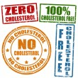 Stock Vector: No cholesterol stamps