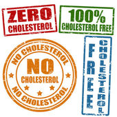 No cholesterol stamps — Stock Vector