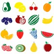 Fruit icons set — Stock Vector