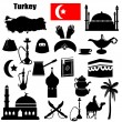 Turkey symbols - Image vectorielle