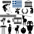 Traditional symbols of Greece — Stock Vector #23546535