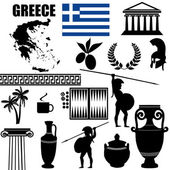 Traditional symbols of Greece — Stock Vector