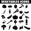 Stock Vector: Vegetables icons set
