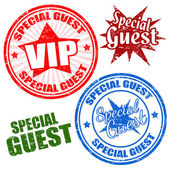 Special guest stamps — Stock Vector