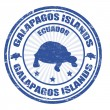 Galapagos Islands stamp — Stock Vector
