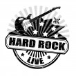 Stock Vector: Hard rock stamp