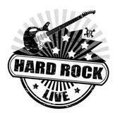 Hard rock stamp — Stock Vector