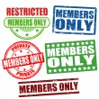 Stock Vector: Members only stamps