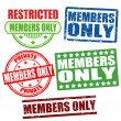 Members only stamps - Stock Vector