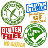 Gluten free stamps — Stock Vector