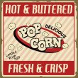 Pop corn vintage poster - 