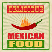 Mexican food vintage poster — Stock Vector