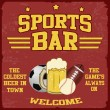 Sport bar poster — Stock Vector
