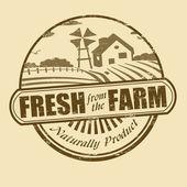 Fraîches en provenance du cachet de la ferme — Vecteur