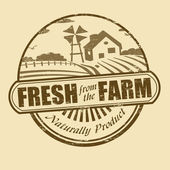 Fresh from the farm stamp — Stock Vector