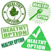 Set of healthy option stamps — Stock Vector