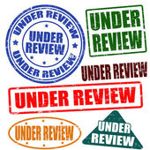 Under review,stamp set — Stock Vector