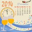 Calendar for 2014 December - Stock Vector