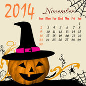 Calendar for 2014 November — Stock Vector