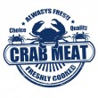 Crab meat stamp — Image vectorielle