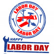 Royalty-Free Stock Imagem Vetorial: Set of labor day stamps