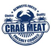 Carimbo de carne de caranguejo — Vetor de Stock