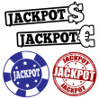 Set of jackpot stamps — Stock Vector