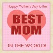 Happy mothers day retro poster - 