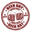 Beer day  stamp — Stock Vector