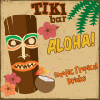 Tiki bar vintage poster — Stock Vector