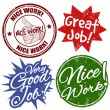 Stock Vector: Work award stamps