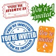 You're invited stamps — Stock Vector #25114857