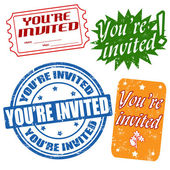 You're invited stamps — Stock Vector