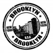 Brooklyn stamp — Stock Vector