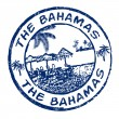 The Bahamas stamp — Stock Vector