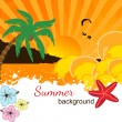Summer background design — Stock Vector