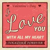 Valentine's Day vintage poster — Stock Vector