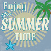 Enjoy the summer time vintage poster — Stock Vector