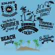 Retro elements for calligraphic designs for Summer holliday — Stock Vector