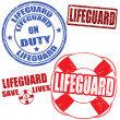 Lifeguard stamps — Stock Vector