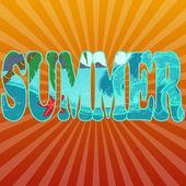 Summer title on orange — Stock Vector