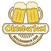 Oktoberfest stamp — Stock Vector