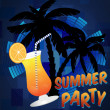 Beach summer party background — Stock Vector
