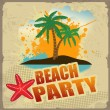 Tropical beach party poster — Stock Vector