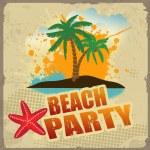 Tropical beach party poster — Stock Vector