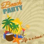 Vintage Beach Party — Stock Vector